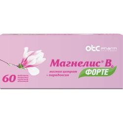 Магнелис В6 форте, табл. п/о пленочной 100 мг+10 мг №60